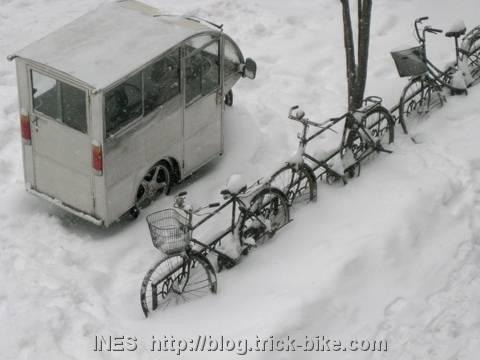 Lots of Snow in Beijing