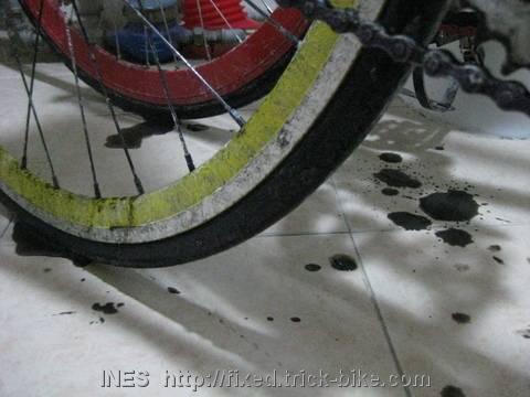 Street Salt and Black Slush on Bicycle