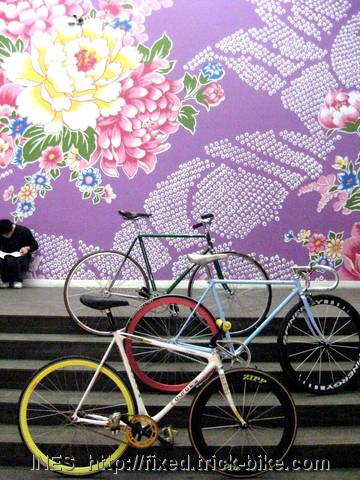 Fixed Gear Bicycle Display in UCCA Museum