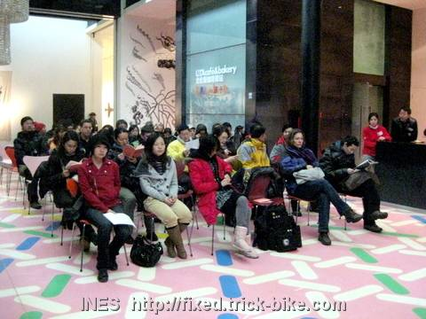 Lecture Audience in the UCCA Cafe Area
