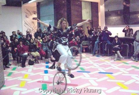 Trick Bike Show during Talk at UCCA