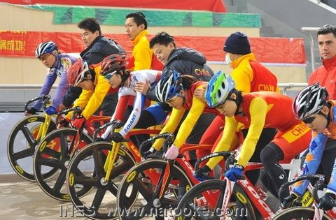 Chinese National Team Women's Keirin Preparation