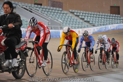 Chinese National Team Mens Keirin Race