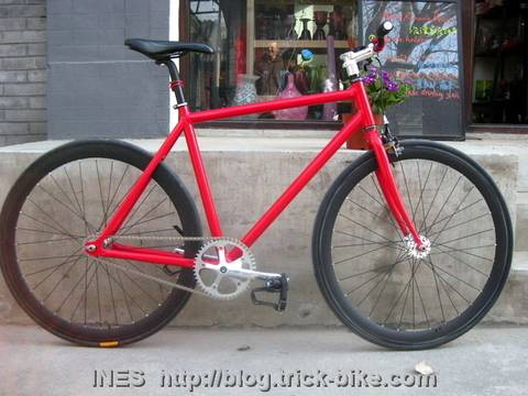 Cristina's Beautiful Fixed Gear Bike