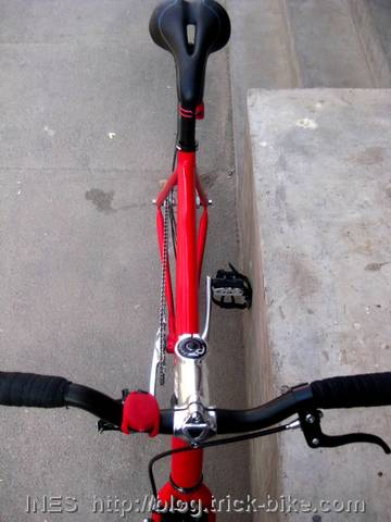Red Silver and Black Bicycle