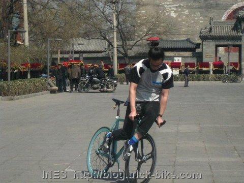 Liang Xing Skidding behind Gulou in Beijing