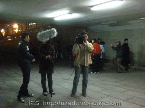 Beijing TV getting ready for the Interview