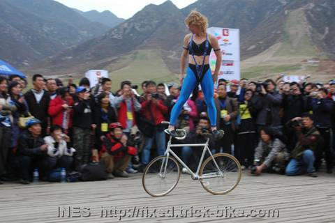 Ines Brunn at Great Wall Mountain Bike Race
