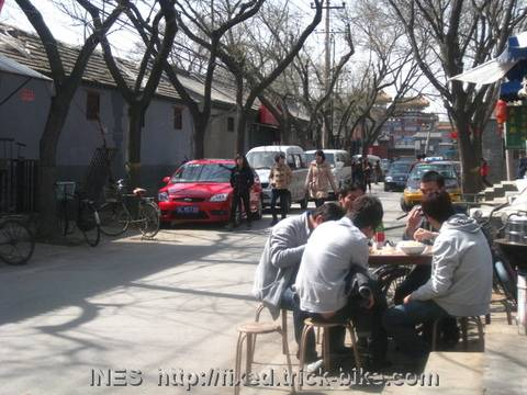 Eating Lunch Outside in a Beijing Hutong