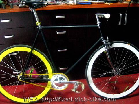 Nico's new Fixed Gear Bicycle