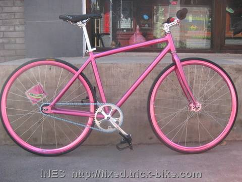 Pink Natooke Fixed Gear Bike for Girls