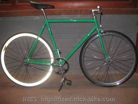 Velocity Reflective Rear Rim on Max Fixed Gear Bike