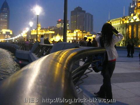 Samantha at the Shanghai Bund
