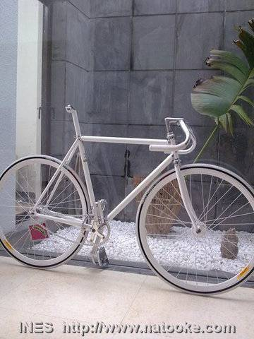 Natooke White Beauty Track Bike