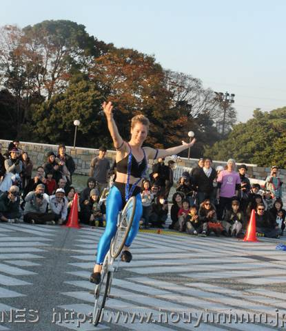 Trick Bike Show of Ines Brunn at Tokyo BFF