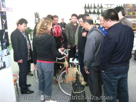 Bamboo Bike Attracting People