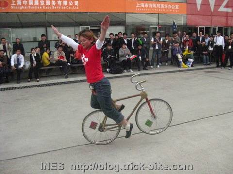 Bicycle Stunts by Ines in Shanghai
