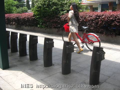 Empty Bike Rental Station in Hangzhou