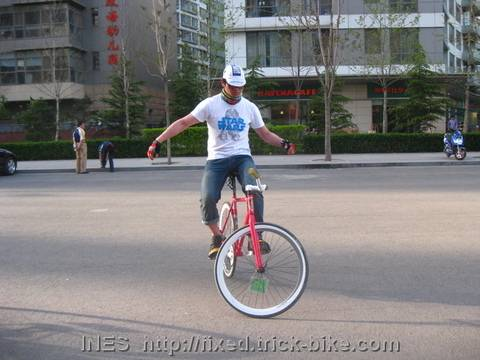 No handed track stand on fixie
