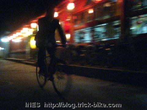 Wudaoying hutong and a fixed gear rider