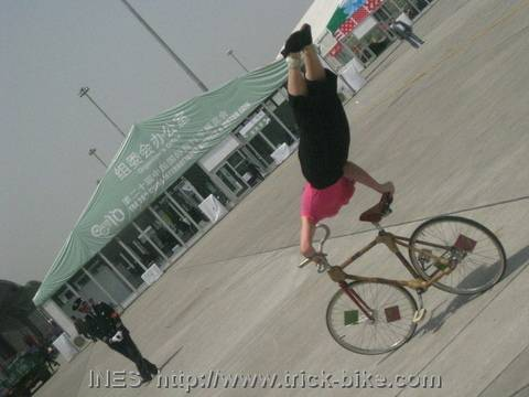 Bike tricks on Bamboo Bicycle