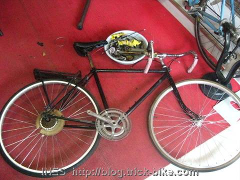 Road bike for conversion to fixed gear