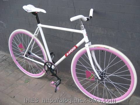 Natooke White Modolo Track Bike