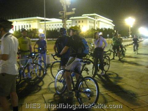 Some CTS Cyclists in front of the Hall of the People
