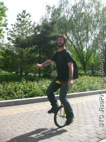 Jib on a unicycle in Beijing