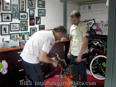 Stripping Down a Chinese Road Bike