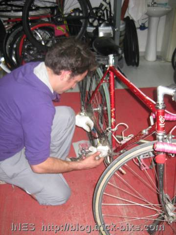 Final Bike repair before the Bike Tour