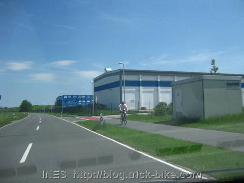 Bike Lane outside of Herzogenaurach