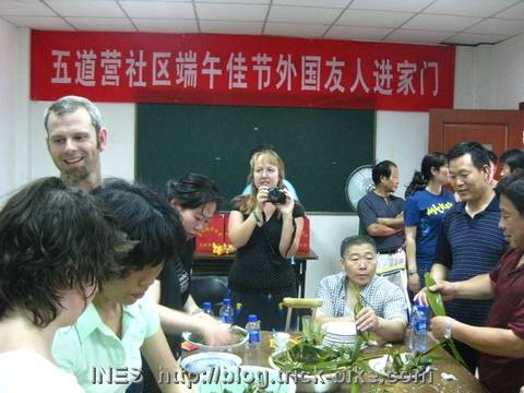 Foreigners Making Zongzi