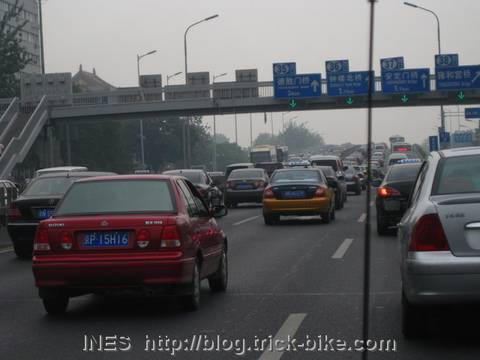 Traffic Jam on North Second Ring Road in Beijing