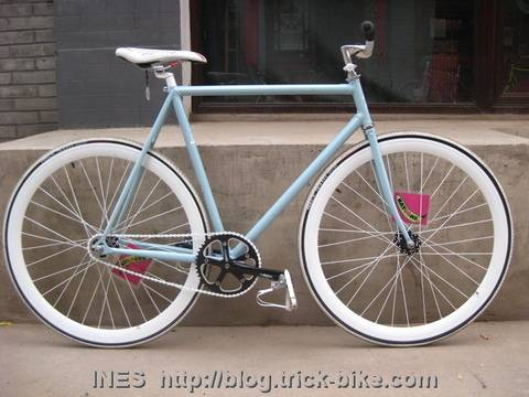 Light Blue Flying Banana Track Bike