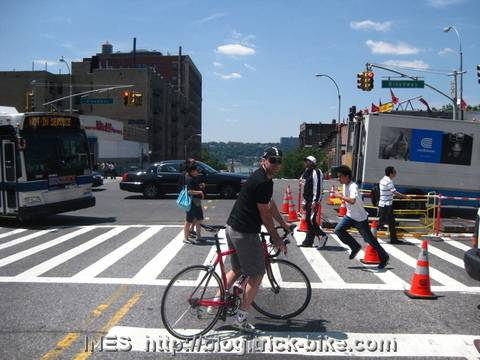 Jacon riding towards the Hudson