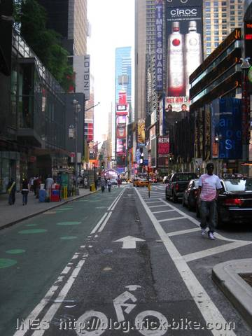 Bicycle Lane on Broadway