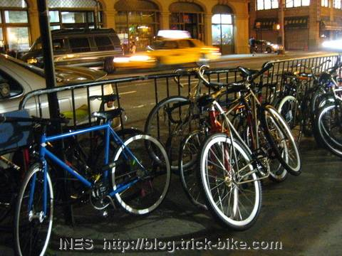 BFF bikes at the vallet parking