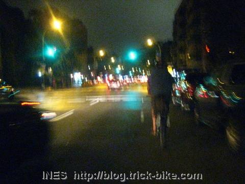 Cycling through Manhattan at Night