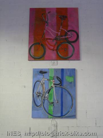 Bicycle Paintings by Taliah Lempert