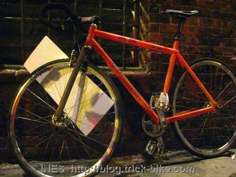 Bike with Huge Spokecard