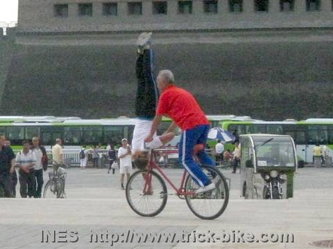 The Handstand trick on a Bike