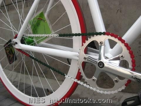 Bike Chain in Italian Flag Colors