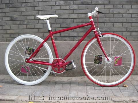 Red Fixed Gear Bike