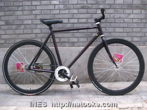 Black Aluminum Fixed Gear Bike