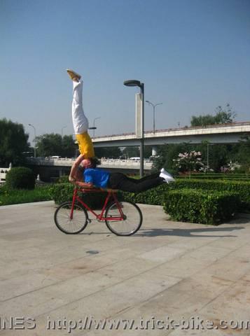 Headstand Bike Trick