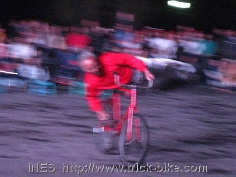 Blurry Bike Trick Picture
