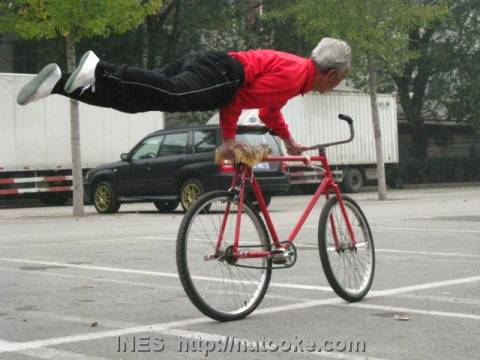 Yu Chang Qing Amazing Bike Trick