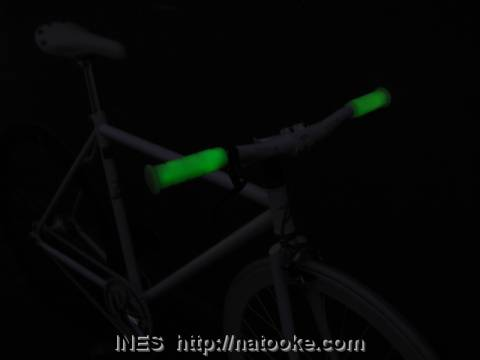 Glow in the dark Oury grips on Flying Banana