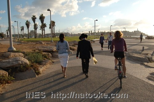Cycling along the Beach in Israel